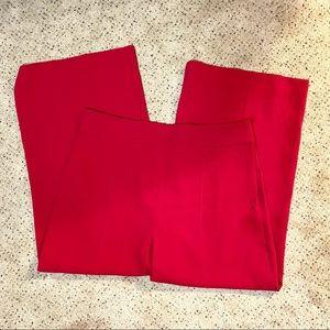 Zara High Rise Wide Leg Cropped Pants Pink XL